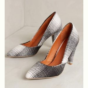 Anthropologie Schuler & Sons Tartan Plaid Pump